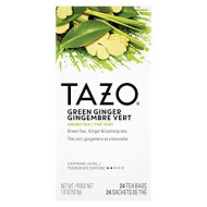 TAZO Green Ginger Enveloped Hot Tea Bags Non GMO, 24 count, Pack of 6