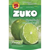 Zuko Lime-Limon Instant Powder Drink | Family Pack | No Sugar Needed | Vitamin C | 14.1 Ounce (Pack Of 6)