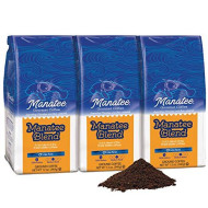 Manatee Gourmet Coffee Low Acid Manatee Blend 12 oz. Ground (Pack of 3)