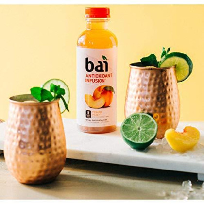 Bai Flavored Water, Panama Peach, Antioxidant Infused Drinks, 18 Fluid Ounce Bottles, 12 Count