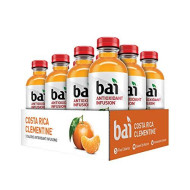 Bai Flavored Water, Costa Rica Clementine, Antioxidant Infused Drinks, 18 Fluid Ounce Bottles, 12 Count