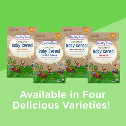Healthy Times Organic Whole Grain Barley Baby Cereal, 5 Ounce (Packaging May Vary)
