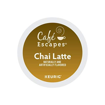 Cafe Escapes Keurig Single-Serve K-Cup Pods, Chai Latte, 24 Count (Packaging May Vary)