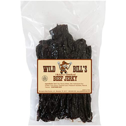Wild Bills Hickory smokd Beef Jerky Strips, 30-Count, 15-Ounce
