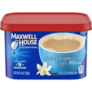 Maxwell House International French Vanilla Cafe Beverage Mix, Caffeinated, 8.4 Oz Can (Pack Of 4)