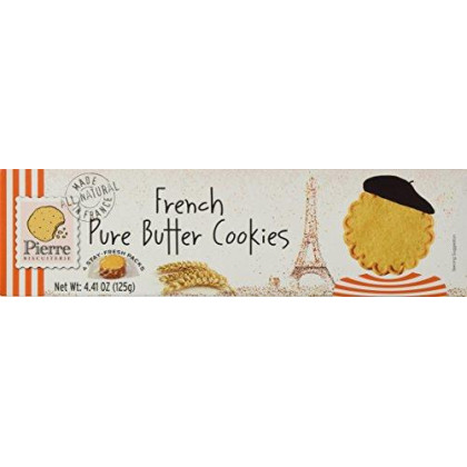 Pierre Biscuiterie French Butter Cookies 4.41 Oz. Box Pack Of 3