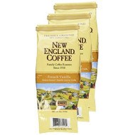New England Coffee French Vanilla, Ground, 11-Ounce Bags (Pack Of 3)