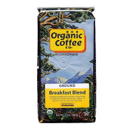 The Organic Coffee Co. Breakfast Blend Ground Coffee 12 Ounce Medium Light Roast USDA Organic