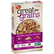 Post Great Grains Raisins, Dates & Pecans Whole Grain Cereal, 16 Ounce