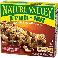 Nature Valley Chewy Granola Bar, Trail Mix, Dark Chocolate and Nut, 6 Bars - 1.2 oz