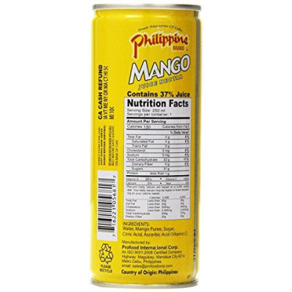Philippine Juice Nectar Mango, 8.4-Ounce (Pack of 12)