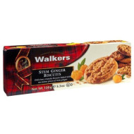 Walkers Stem Ginger Biscuits, 5.3-Ounce Boxes (Pack of 12)