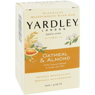 Yardley Naturally Moisturizing Bath Bar 4.25 Oz Ea, Oatmeal & Almond, 4 Pack