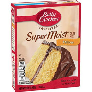 Betty Crocker Super Moist Yellow Cake Mix, 6 Pack, 15.25 oz
