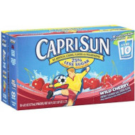 Capri Sun Wild Cherry Flavored Juice Drink Blend, 6 Fluid Ounce (Pack Of 10)