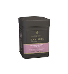 Taylors of Harrogate China Rose Petal Loose Leaf, 4.41 Ounce Tin