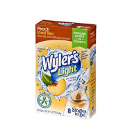 Wyler'S Light Singles To Go Powder Packets, Water Drink Mix, Peach Iced Tea, 96 Single Servings (Pack Of 12)