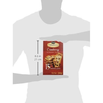 Thin Addictive Cranberry Almond Thins 15 Packs Of Crunchy Cookies (12.2 Oz)