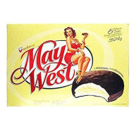 Vachon May West White Sponge Cakes 1 Box 11.4 Ounces Imported from Montreal Quebec