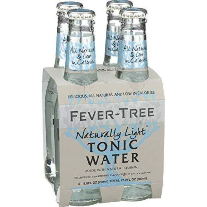 Fever-Tree Naturally Light Indian Tonic Water, 6.8 Oz, 4 Count