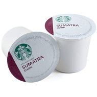 Starbucks Sumatra Dark Roast Coffee Keurig K-Cups, 64 Count