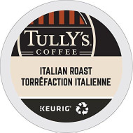 Tully's Coffee Italian Dark Roast Keurig Single-Serve K-Cup Pods, Dark Roast Coffee, 24 Count