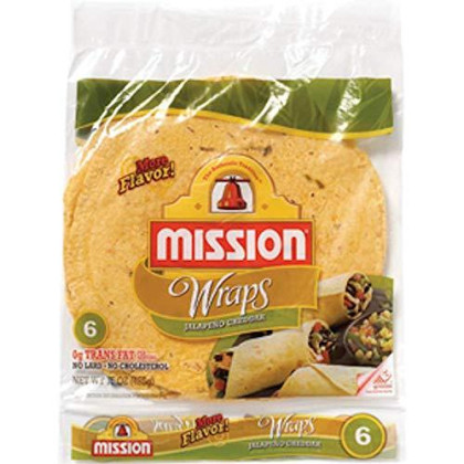 Mission Jalapeno Cheddar Wraps 6 count (Pack of 6)