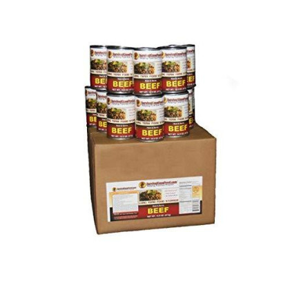 12 - 14.5Oz Cans Of Canned Meat (Beef) Long Term Food Storage -Survival Cave