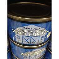 Trader Joe'S Premium Chunk White Chicken In Water 12.5 Oz 98% Fat Free