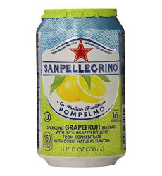 Sanpellegrino Grapefruit Sparkling Fruit Beverage, 11.15 Fl Oz. Cans (6 Count)