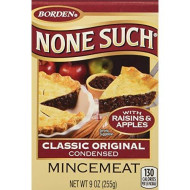 Borden None Such Condensed Mincemeat, Apples And Raisins, 9-Ounce Box - Pack Of 4 Boxes