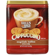Hills Bros., Cappuccino, English Toffee Drink Mix, 16Oz Container (Pack Of 3) By Hills Brothers