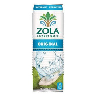Zola 100% Pure Coconut Water, 17.5 Ounce (Pack Of 12)