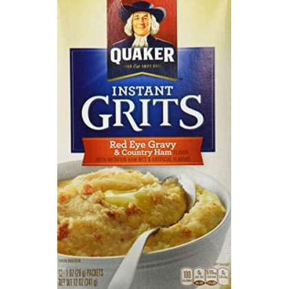Quaker Instant Grits Red Eye Gravy & Country Ham Flavor 12 Servings