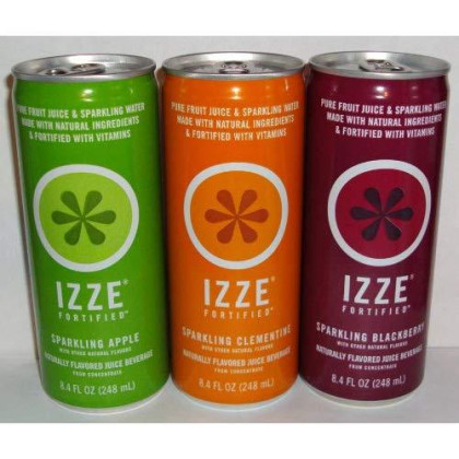 Izze Sparkling Variety Pack - Blackberry - Apple - Clementine 8.4 Oz Cans (Pack Of 12)