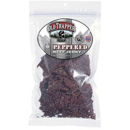 Old Trapper Peppered Beef Jerky | Traditional Style Real Wood smokd Made From 100% Top Round Steak | 10 Ounce