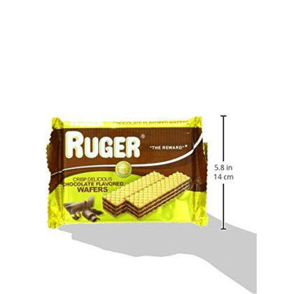 Ruger Crispy, Crunchy, Chocolate Flavored Cream, Sugar Wafers | 2 1/8 Ounce 12 Pack