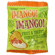 Trader Joe'S Mango ! Mango ! Fruit & Yogurt Gummies Soft Candies Flavored With Mango,Passionfruit And Yogurt Fat Free !!!!