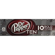 Dr. Pepper Ten Soda Pop, 12-Pack Fridge Pack, 12-Ounce Cans