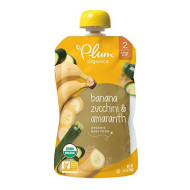 Plum Organics Stage 2 Organic Baby Food, Banana, Zucchini & Amaranth, 3.5 Ounce Pouch (Pack Of 12)