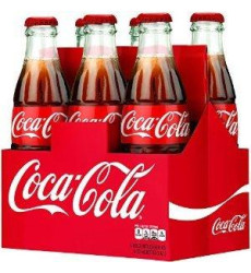 Coca-Cola Classic 8oz Glass Bottles 4-6 Packs (24 Bottles) Coke