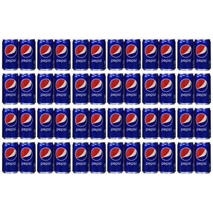 Pepsi Cola Soda 7.5oz Mini Cans 3/8 Packs (24 Cans)