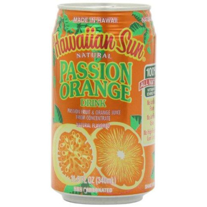 Hawaiian Sun Juice, Orange Passion, 11.5-Ounce (Pack of 24)
