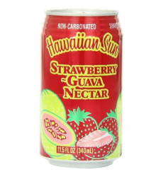 Hawaiian Sun Nectar, Strawberry-Guava, 11.5-Ounce (Pack Of 24)
