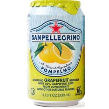San Pellegrino Sparkling Beverage, Pompelmo (Grapefruit), 11.15-Ounce Cans (Pack of 12)