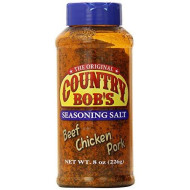 Country Bob'S Seasoning Salt For Beef, Chicken And Pork, 8 Ounces
