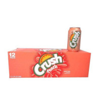 Crush Peach Soda 12oz Cans (Pack of 12)