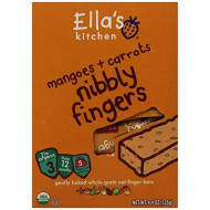 Ella'S Kitchen Mangoes + Carrots Nibbly Fingers Whole Grain Oat Finger Bars, 4.4 Oz