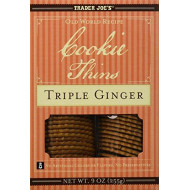 Trader Joe'S Cookie Thins Triple Ginger 9 Oz