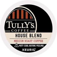 Tully'S Coffee, House Blend, Single-Serve Keurig K-Cup Pods, Medium Roast Coffee, 96 Count (4 Boxes Of 24 Pods)